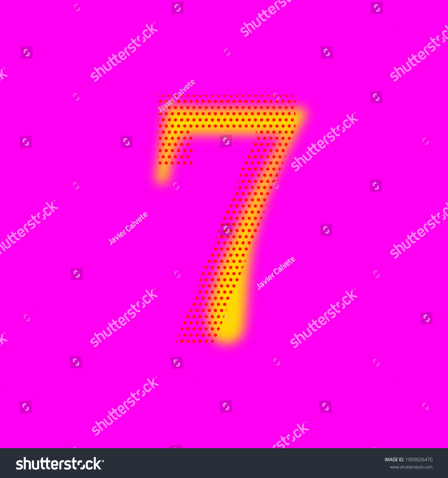 Royalty Free Stock Illustration of Number Seven 7 Effect Blur Points ...