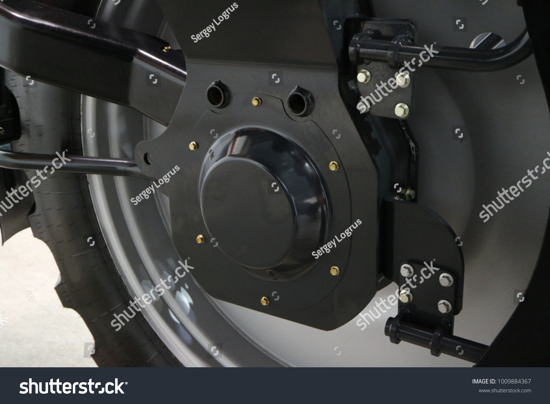 Hydraulic Motor Drive Wheel Suspension Wheel Stock Photo