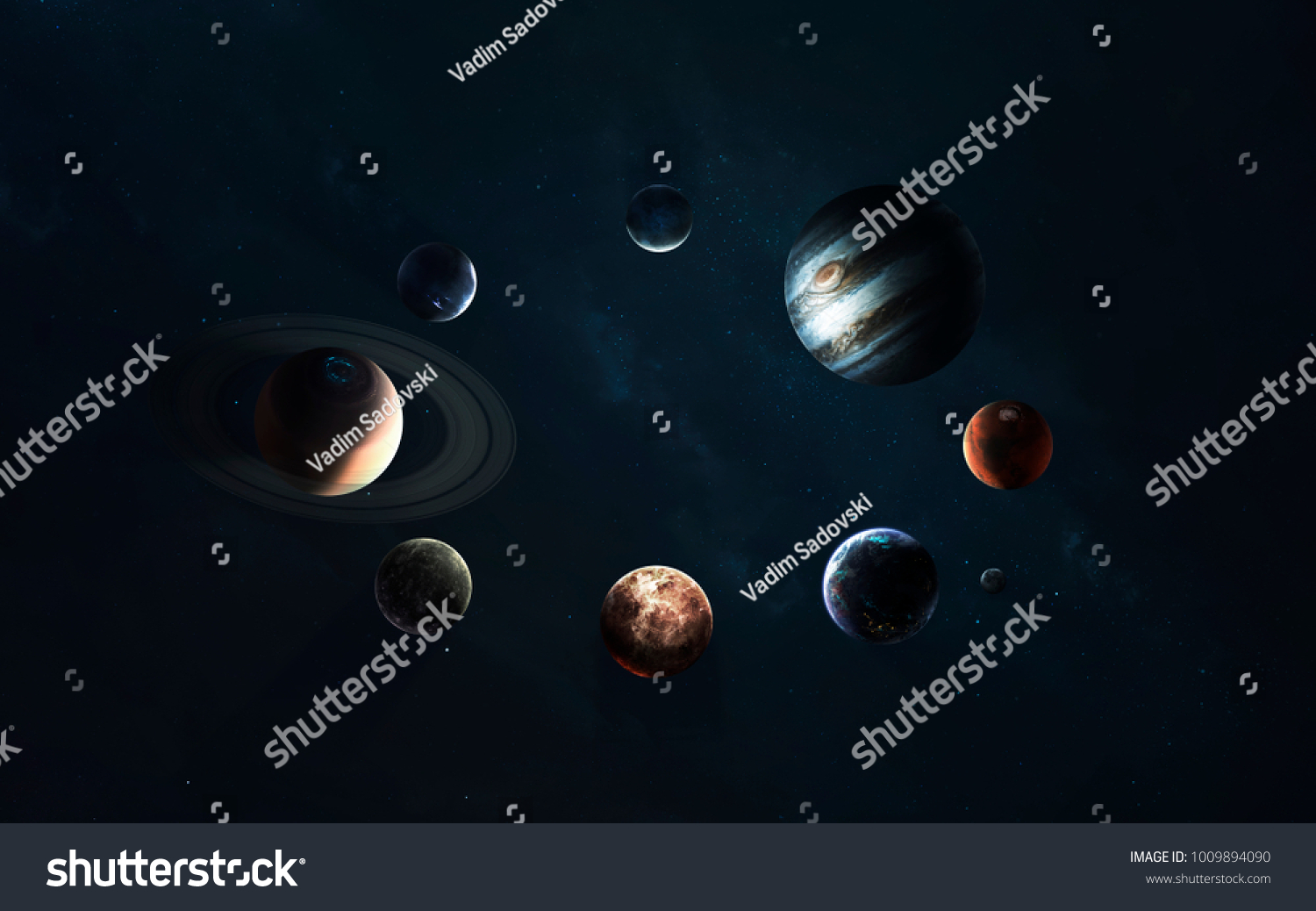 Solar System Symbol Space Exploration Elements Stock Photo Edit Now
