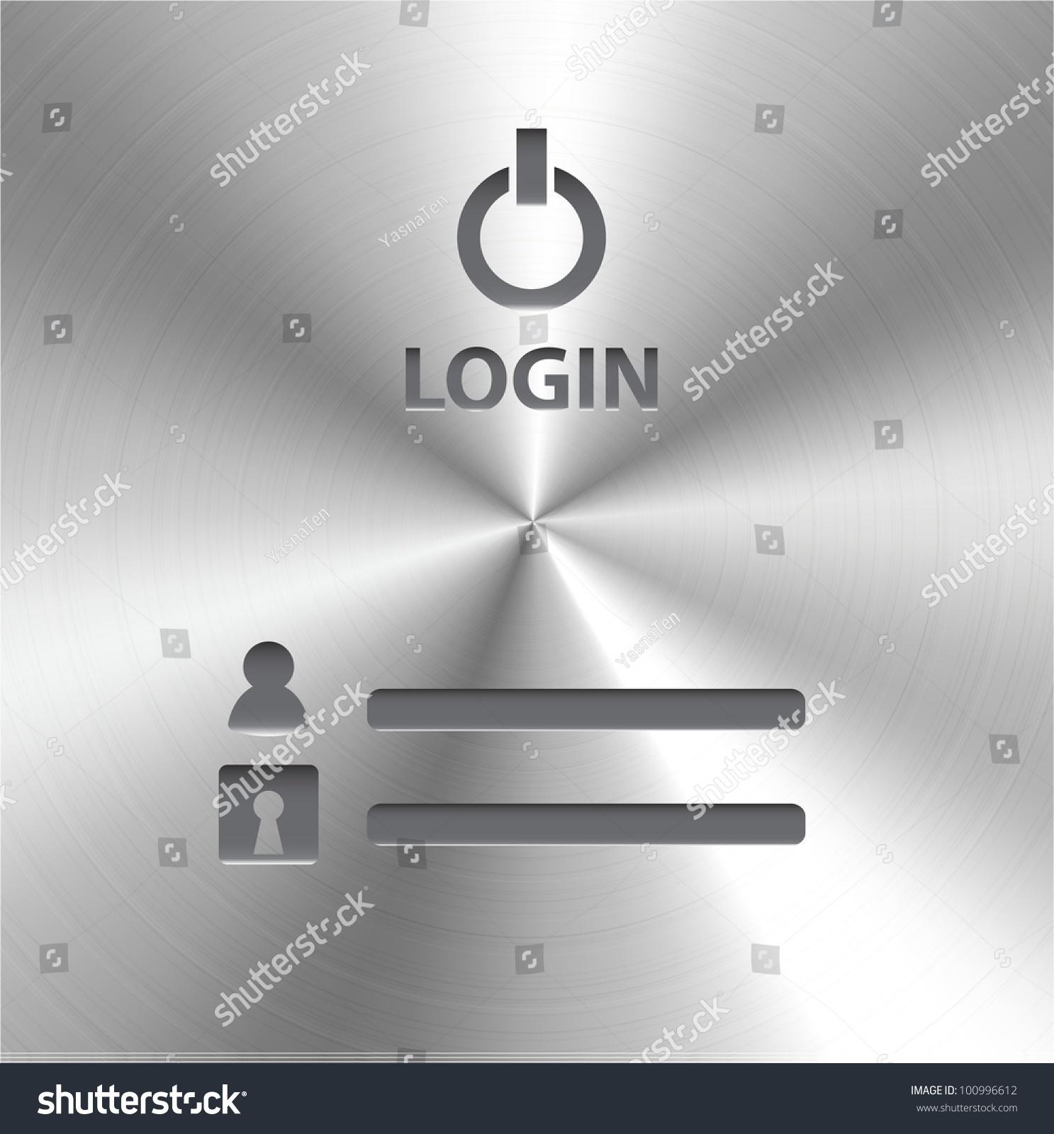 vector login page metal texture stock vector royalty free