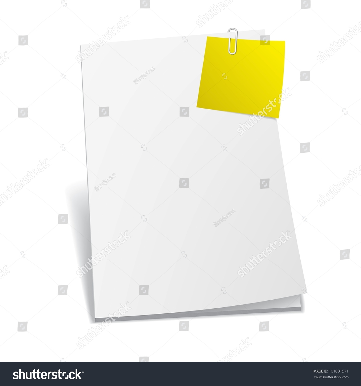 Magazine Blank Page Template Design Layout Stock Vector 101001571