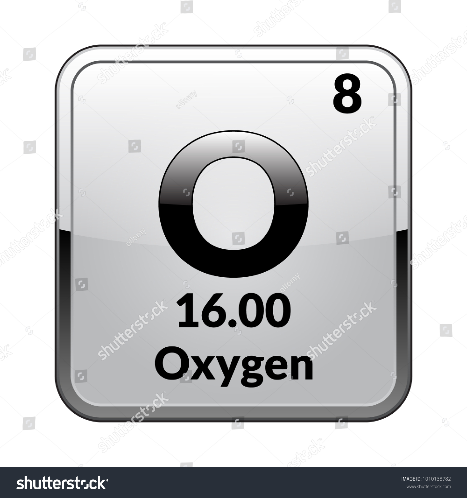 Oxygen symbolchemical element periodic table on stock vector oxygen symbolemical element of the periodic table on a glossy white background in a buycottarizona Image collections