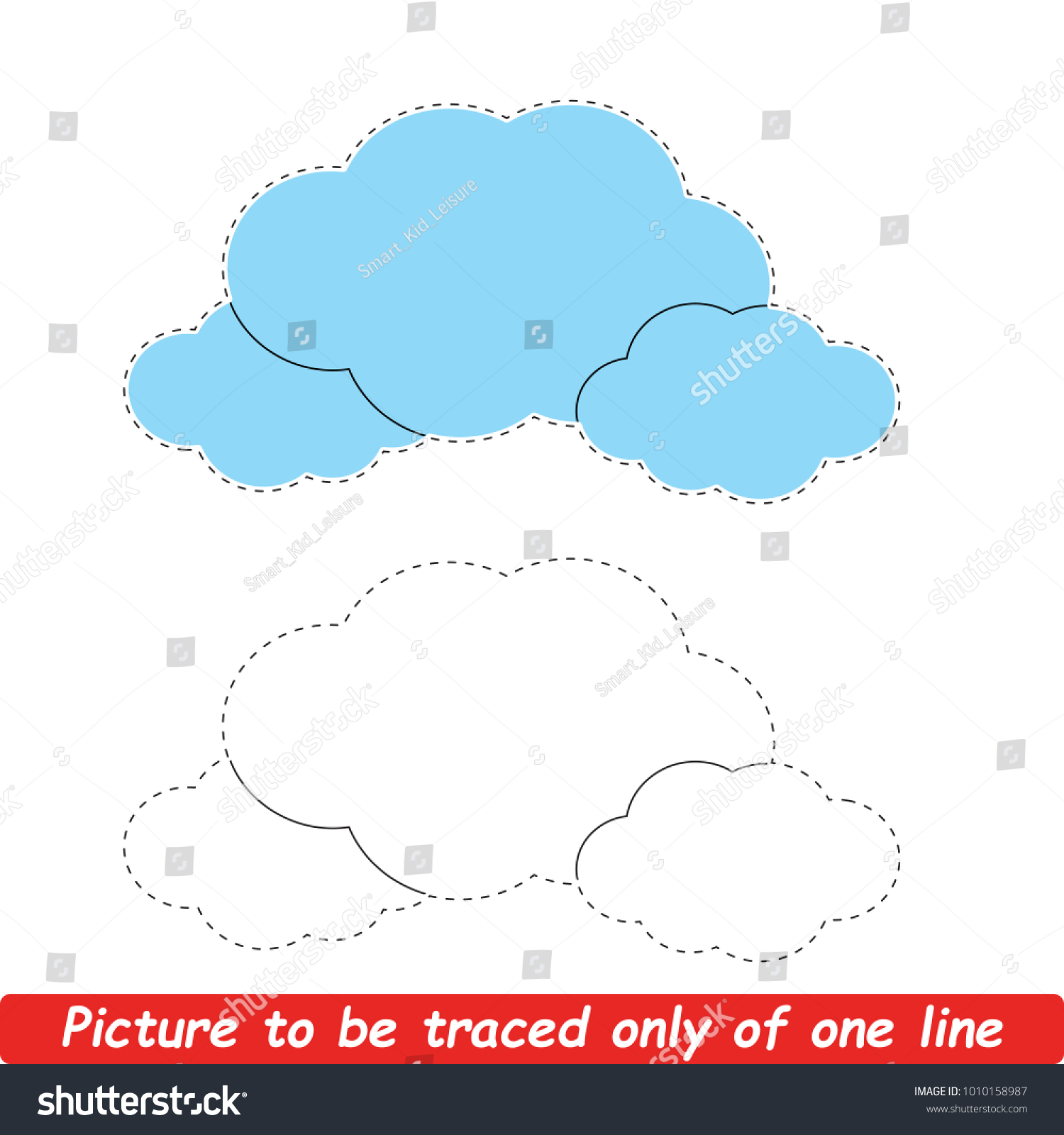 Complete Picture One Outside Line Coloring Stock Vector (Royalty ...