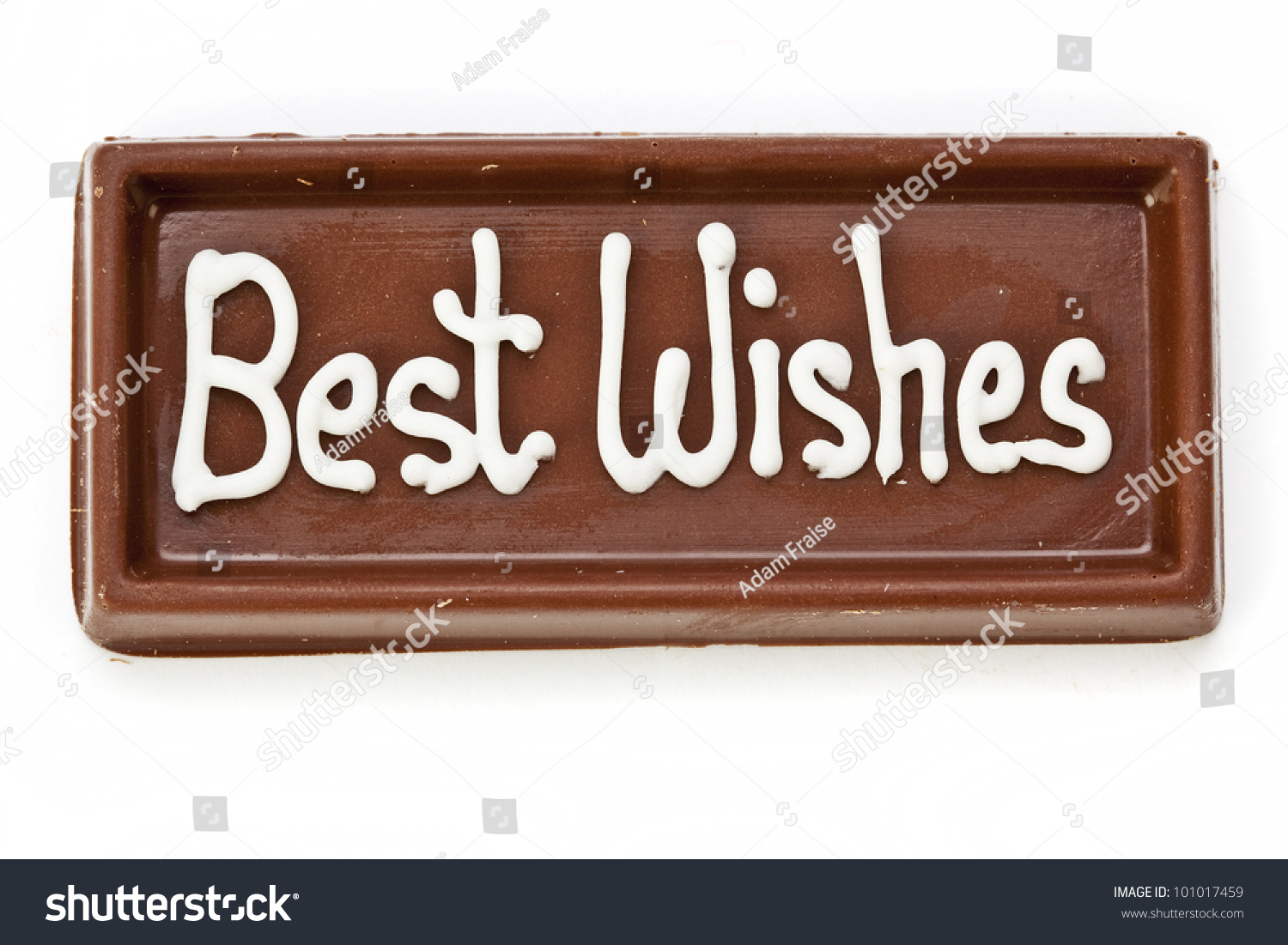 Bar Chocolate Inscribed Words Best Wishes Stock Photo (Edit Now ...
