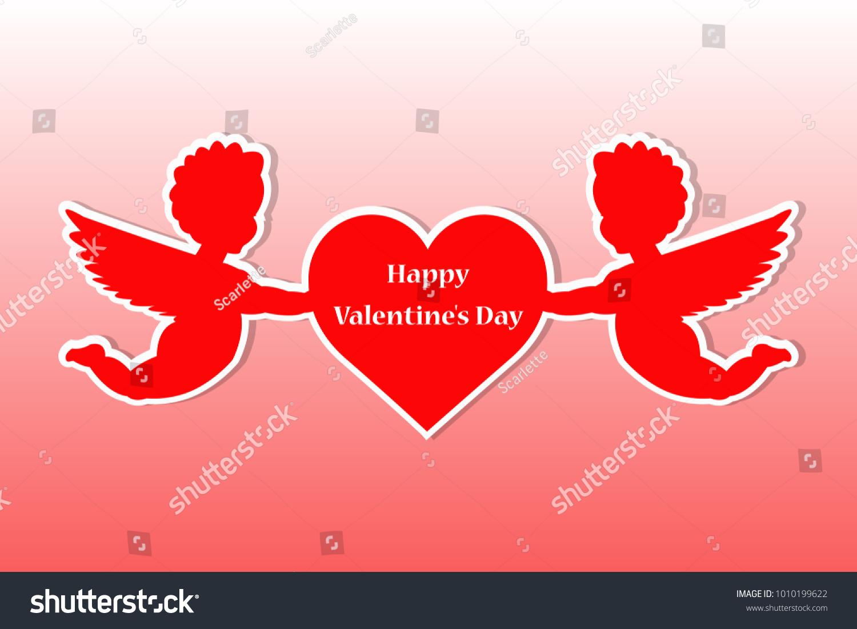 Cute St Valentines Day Gift Card Stock Vektorgrafik Lizenzfrei