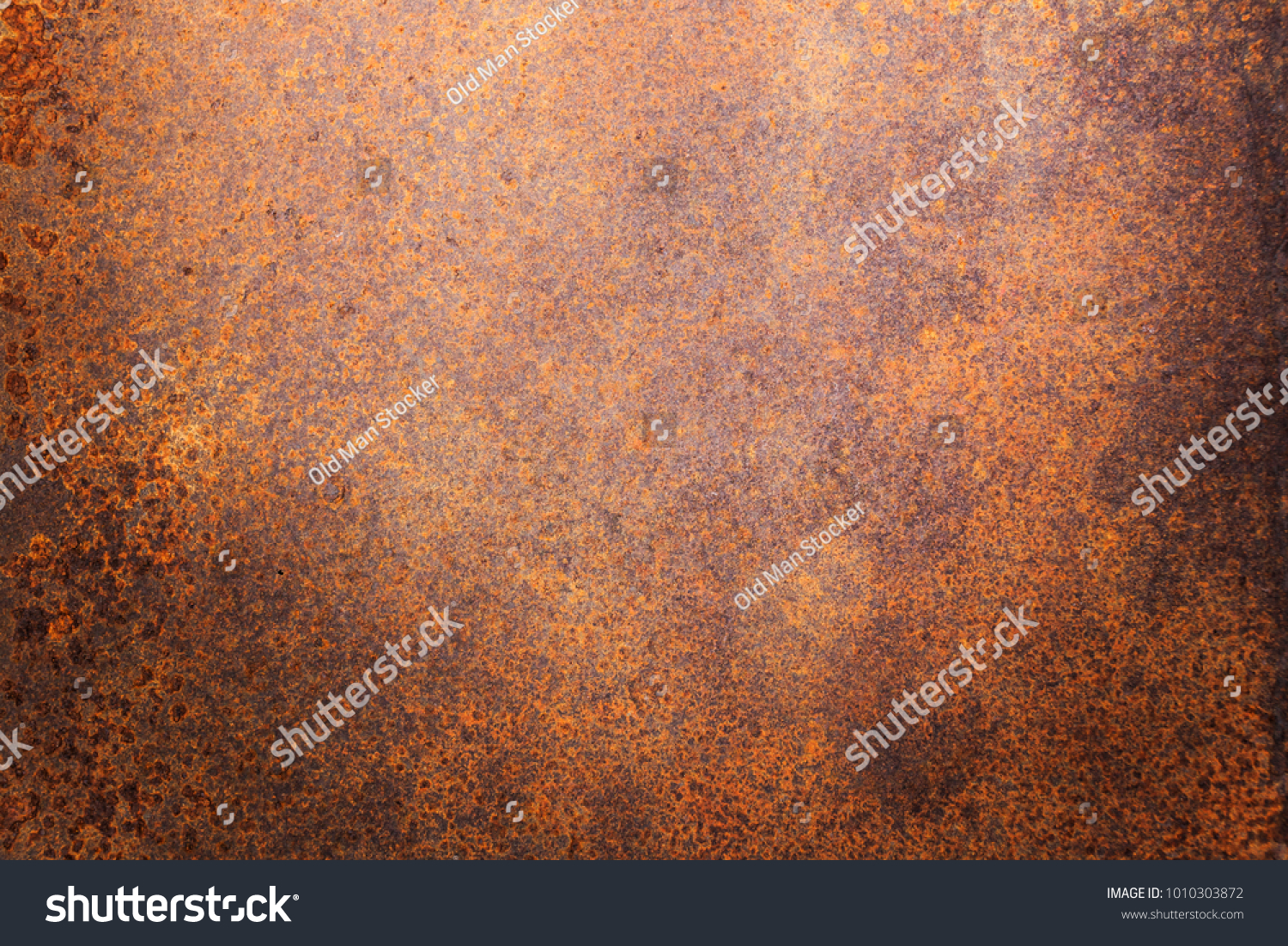 Rusty metal texture background for interior exterior decoration and industrial construction concept design. #1010303872