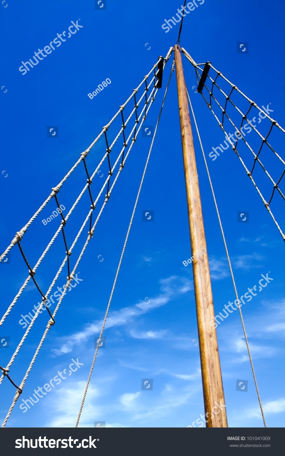 Marine Rope Ladder Ship Ladder Upstairs Stock Photo 101041009 ... for Rope Ladder Ship  300lyp