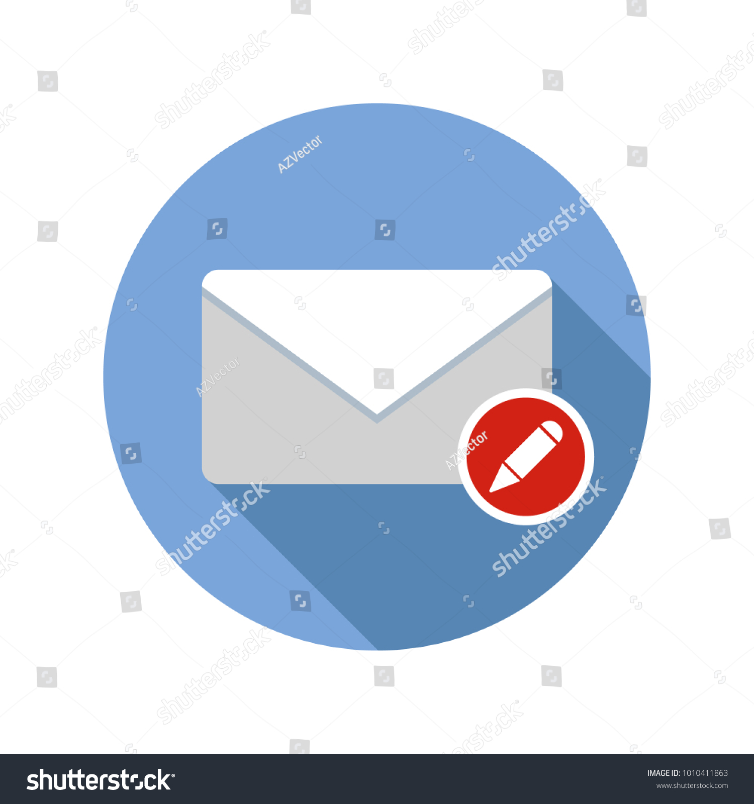 Write mail icon email icon long stock vector hd royalty free write mail icon email icon with long shadow vector flat illustration altavistaventures Choice Image
