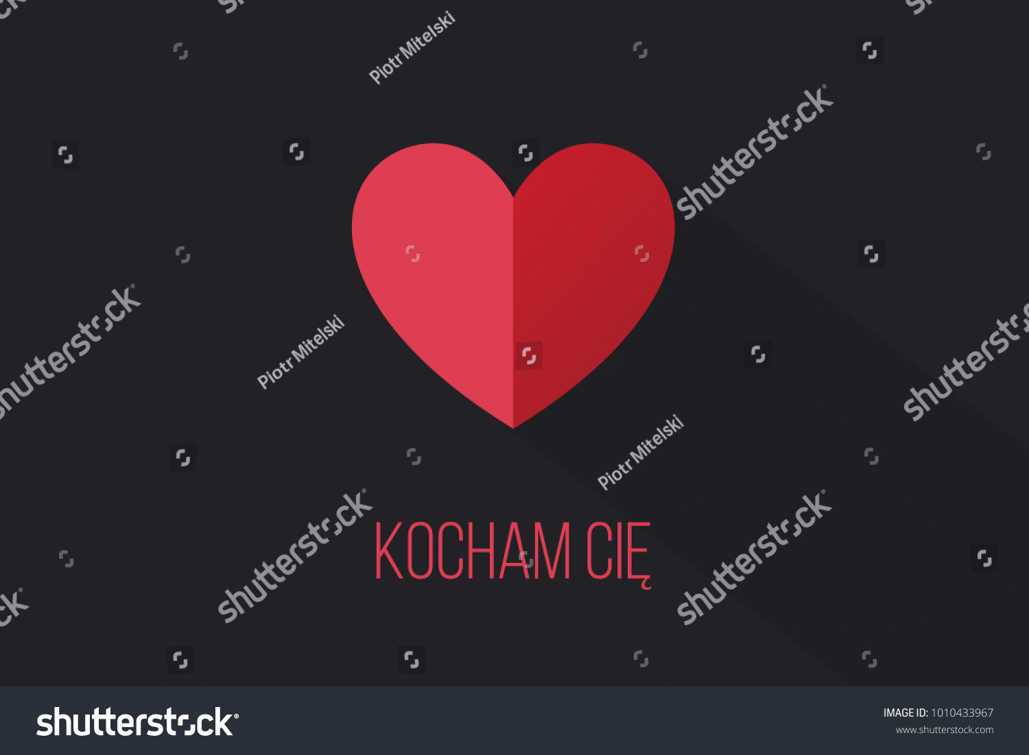 Red Heart On Dark Background Words Stock Illustration Royalty Free