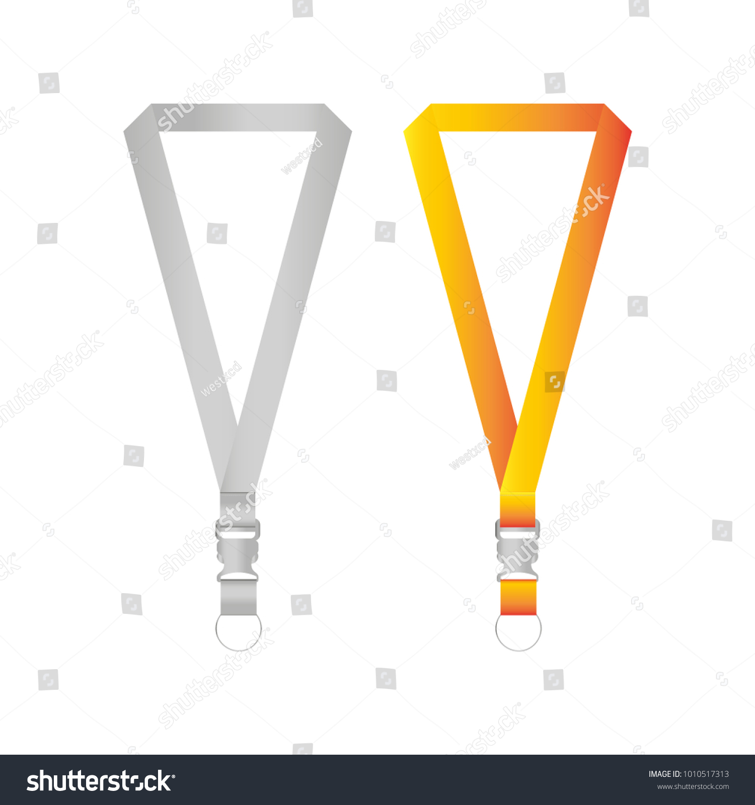 Lanyards Design Mockup Template Vector Eps Stock Vector Royalty