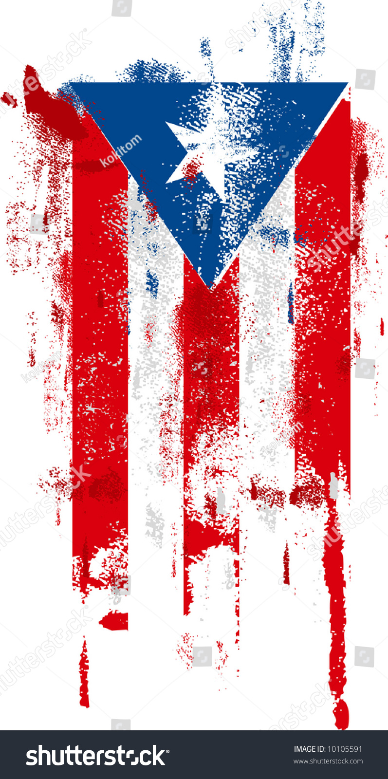 Puerto Rico Paint Roller Flag