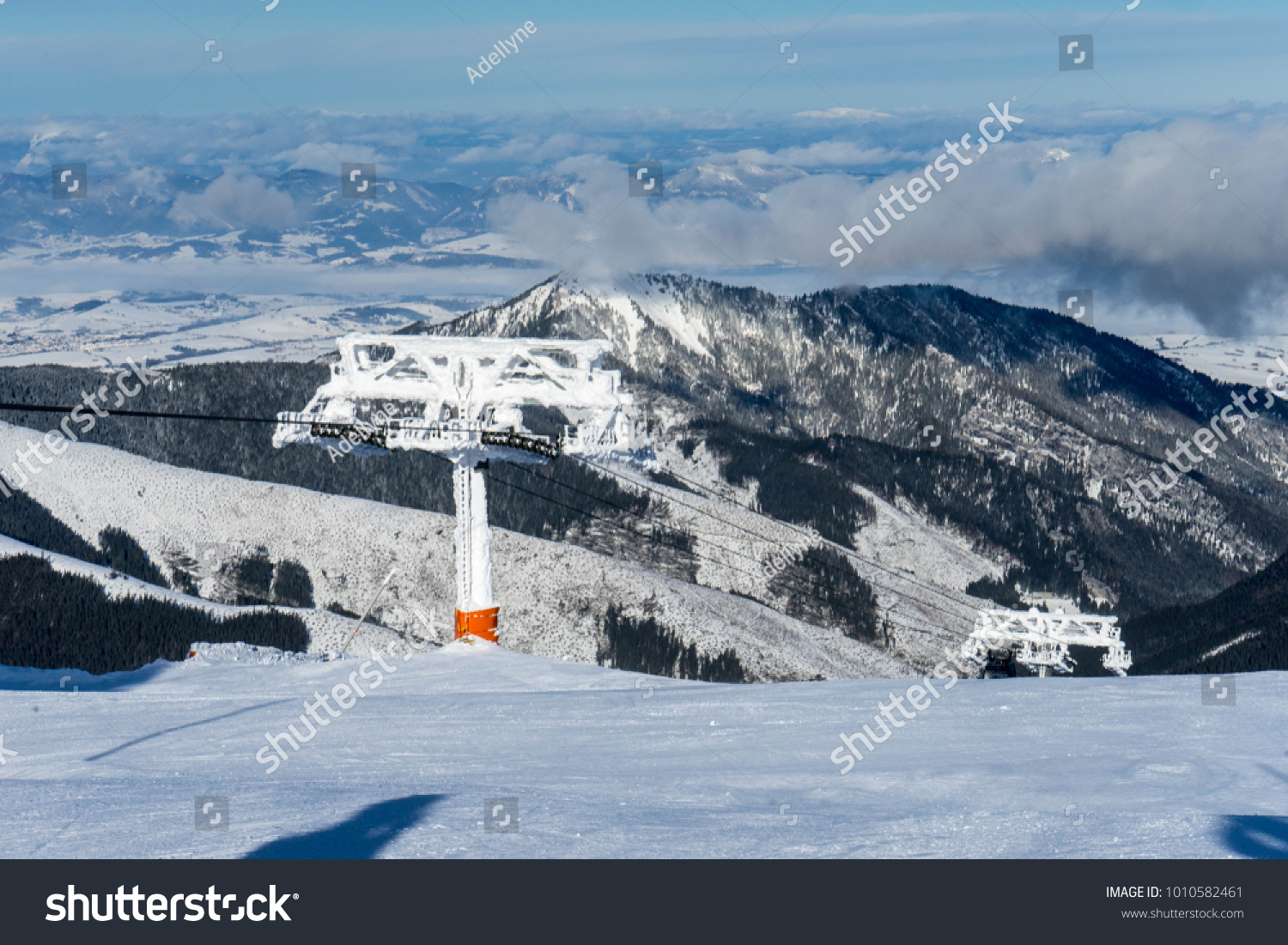 ski resort slovakia low tatra mountains stock photo (edit now