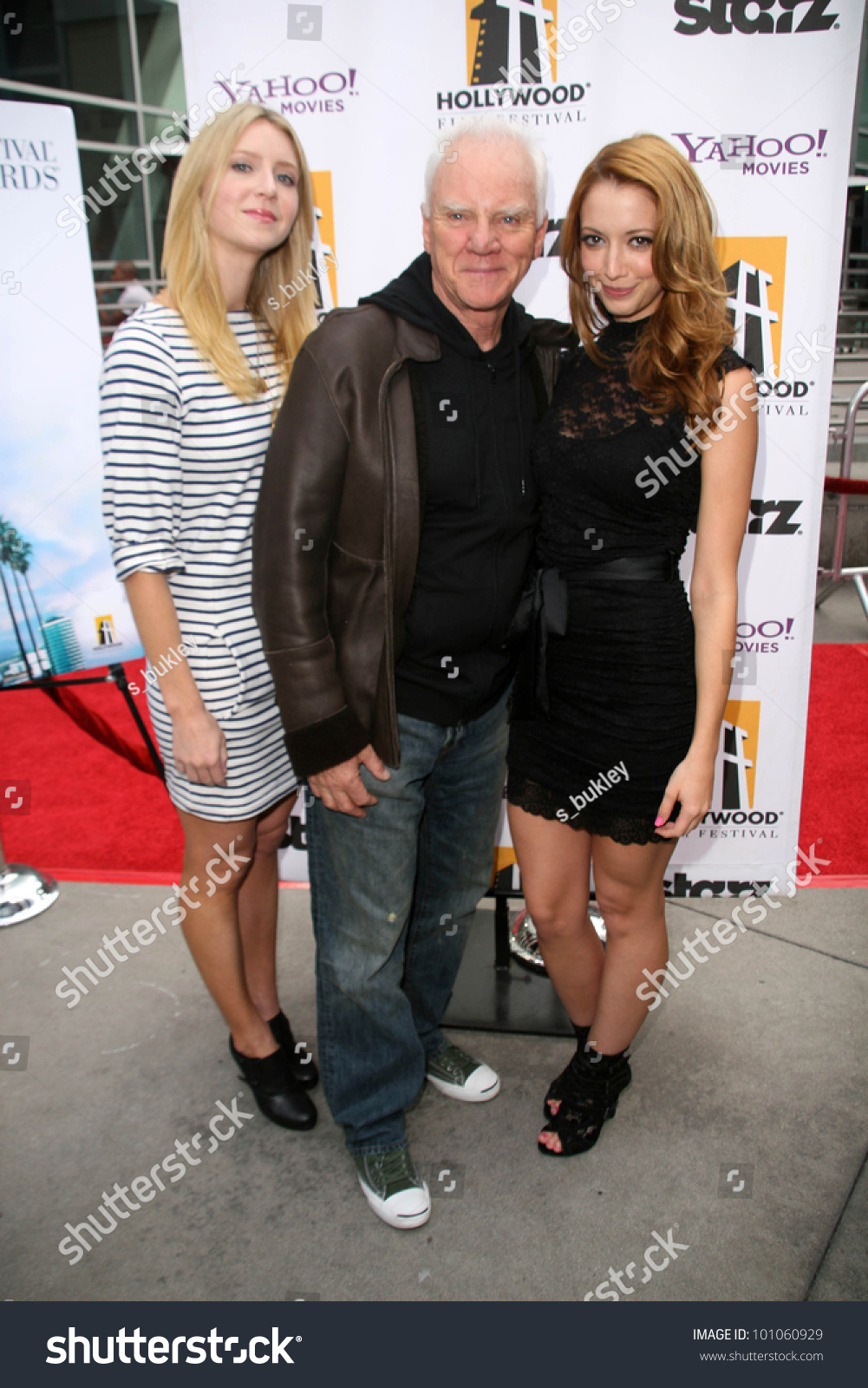 Lilly mcdowell malcolm mcdowell taryn southern at a screening of pound of flesh