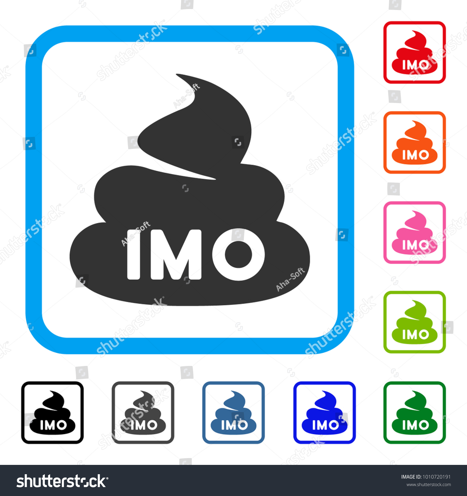 Imo Shit Icon Flat Grey Iconic Stock Vector Royalty Free