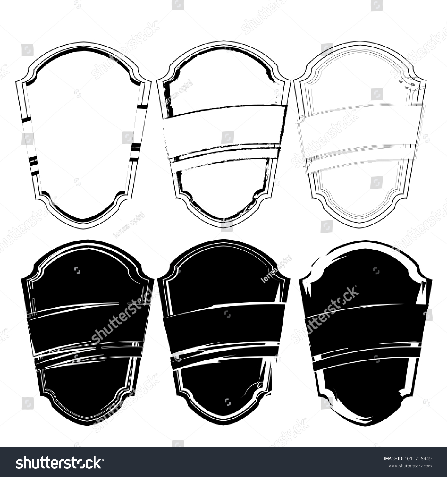 Collection Of Blank Silhouette Black Outline Template Sticker Label