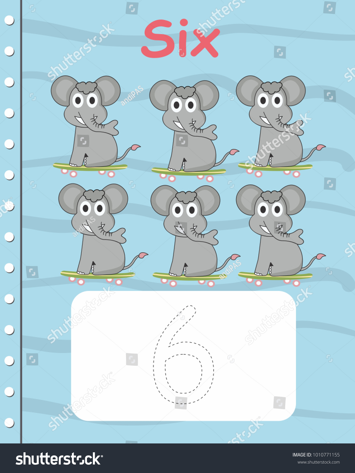 Printable Worksheet Kindergarten Preschool We Train Stock Photo ...