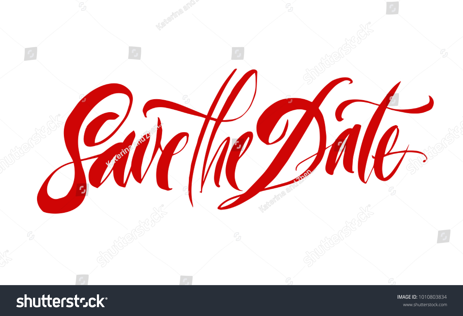 Save Date Lettering Brush Pen Hand Stock Vector 1010803834 ...