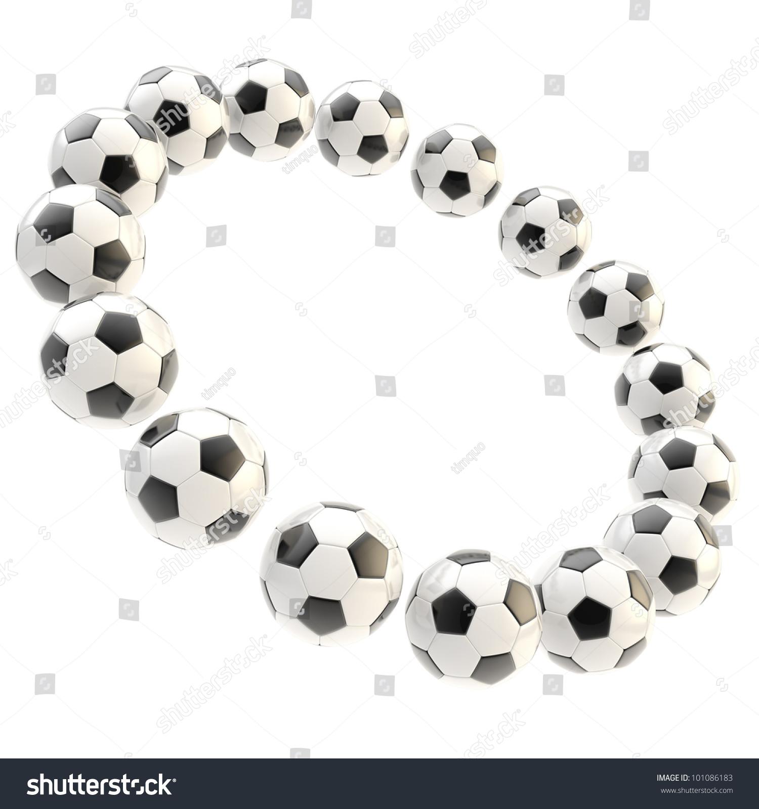 Sport Football Circle Frame Made Soccer Stock Illustration 101086183 ...