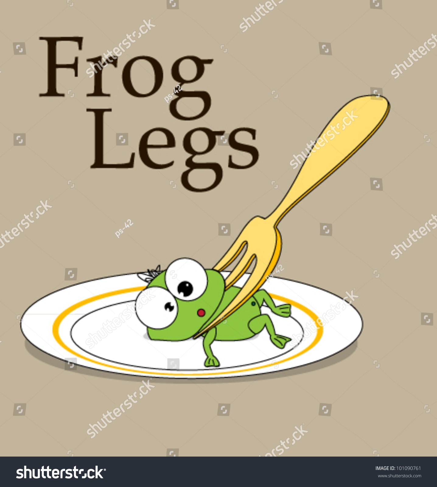 frog legs delicacy humor stock vector royalty free 101090761 rh shutterstock com Turtle Vector Vector The Crocodile