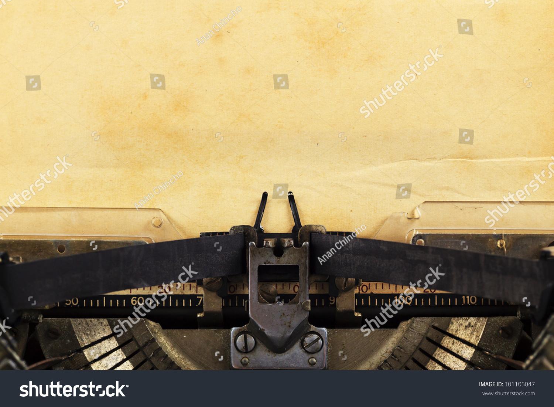 Old Typewriter With Pa... Vintage Typewriter Paper Photography