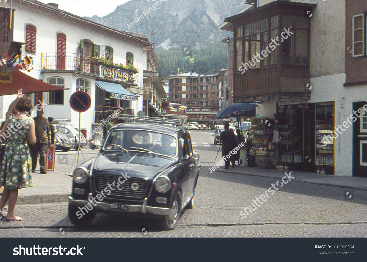 BOLZANO ITALY 1969 Vintage Lancia Automobile Stock Photo (Safe to ...