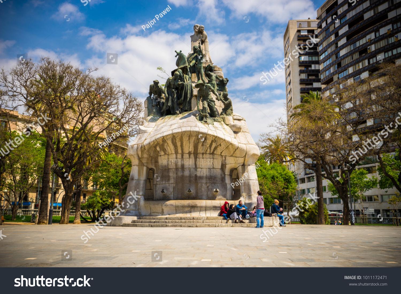 Barcelonaspain29042017plaza Tetuan Memorial Bartomeu Robert Built Stock Photo Edit Now 1011172471