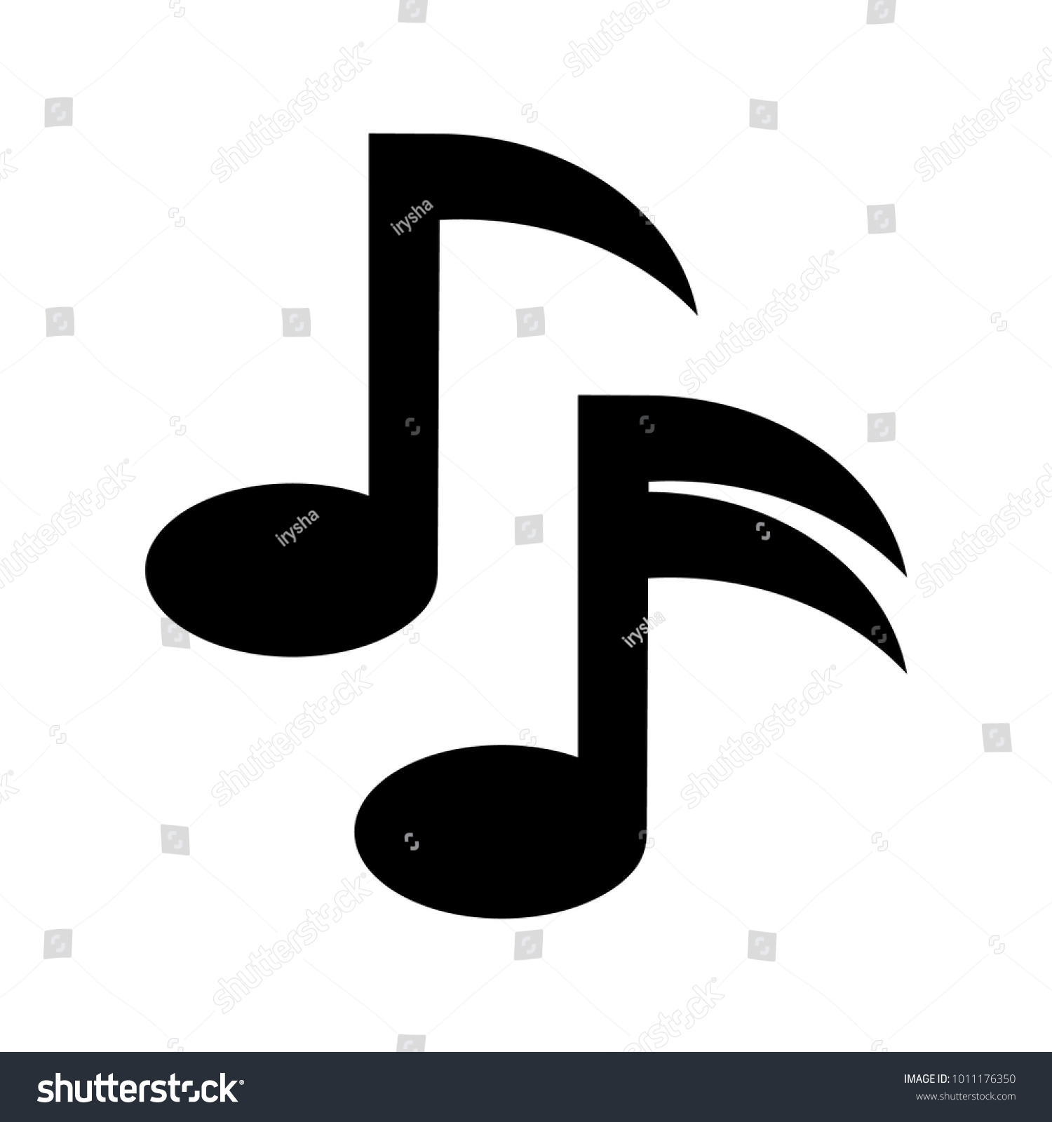 Music Note Icon Vector Musical Symbol Stock Vector Royalty Free