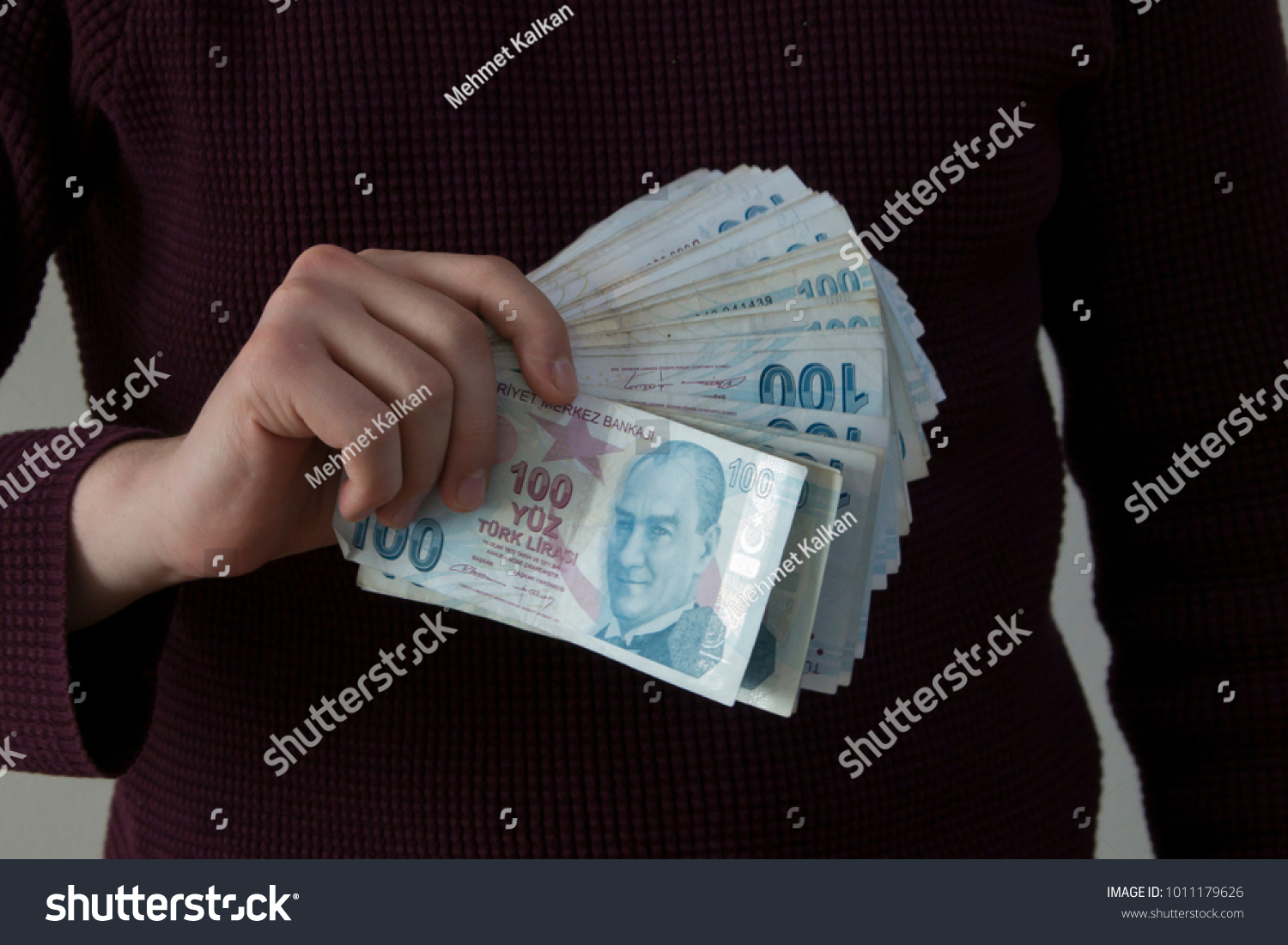 Turkish Lira Turk Lirasi Stock Photo Edit Now 1011179626