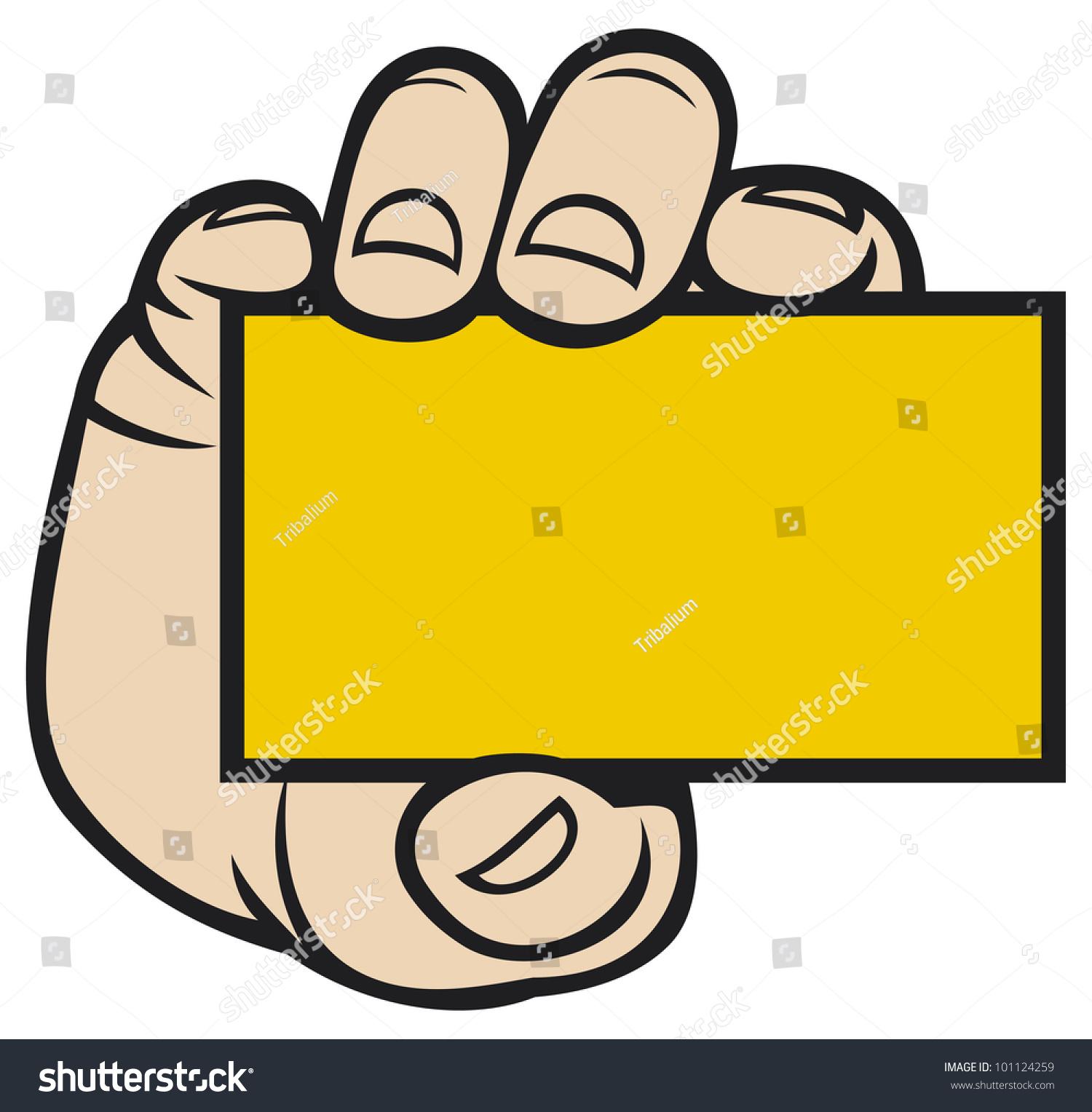 Hand Holding Business Card Stock Illustration 101124259 - Shutterstock