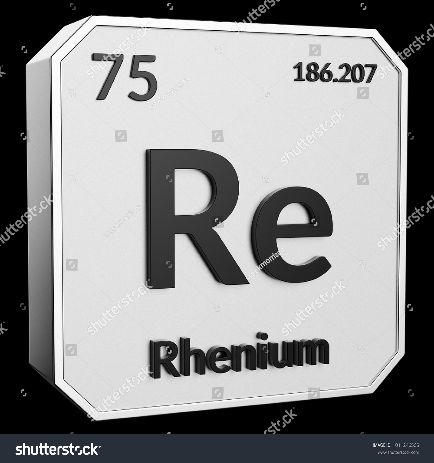 3 D Text Chemical Element Rhenium Atomic Stock Illustration