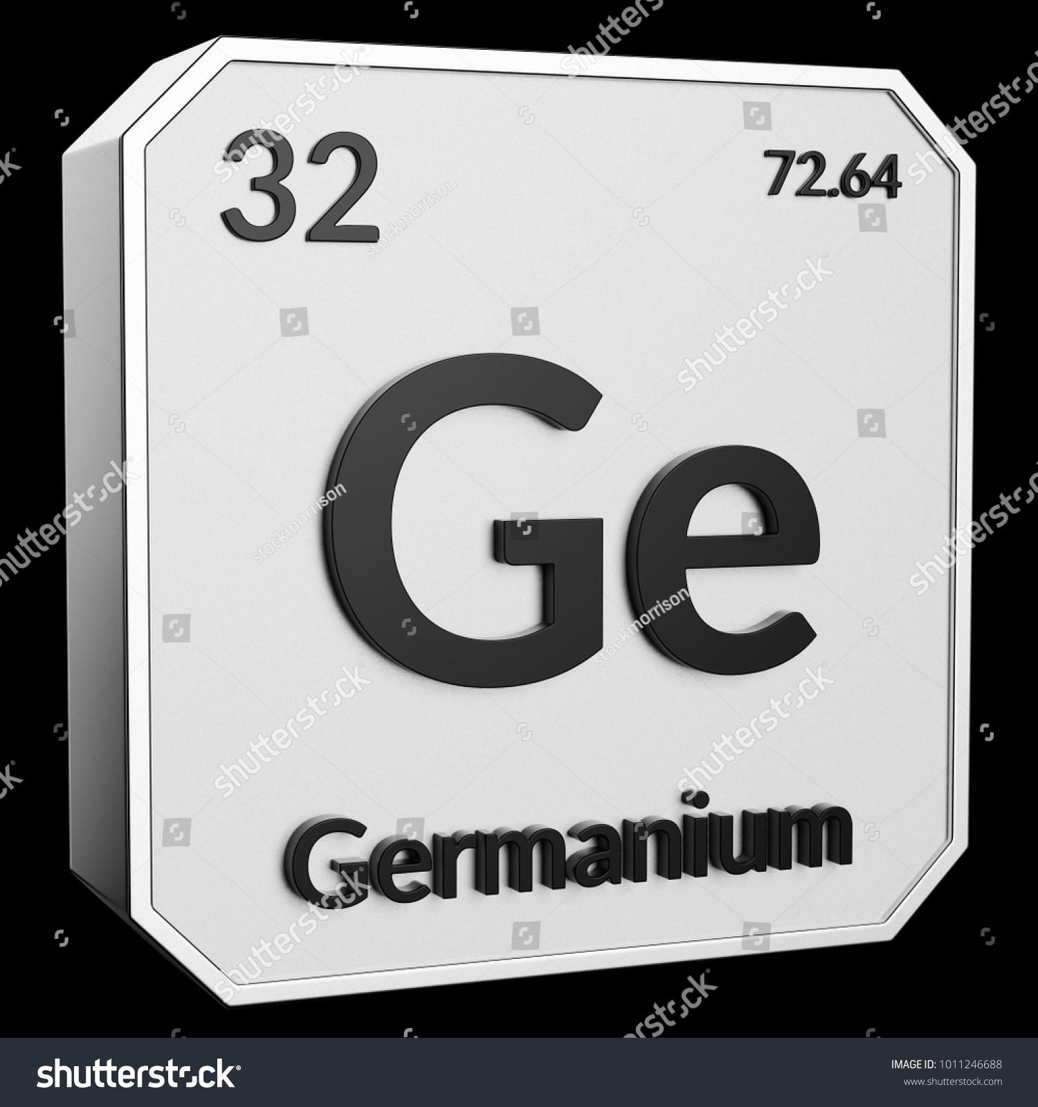 3 D Text Chemical Element Germanium Atomic Stock Illustration