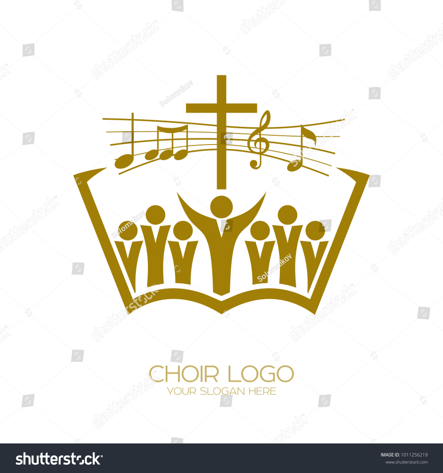 Music logo christian symbols church god stock vector 1011256219 music logo christian symbols the church of god sings to jesus christ a song buycottarizona Image collections