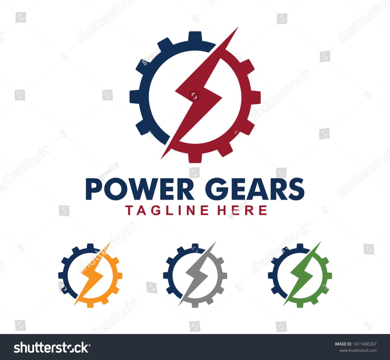 Vector Logo Design Power Electric Electricity Stock Vector Royalty