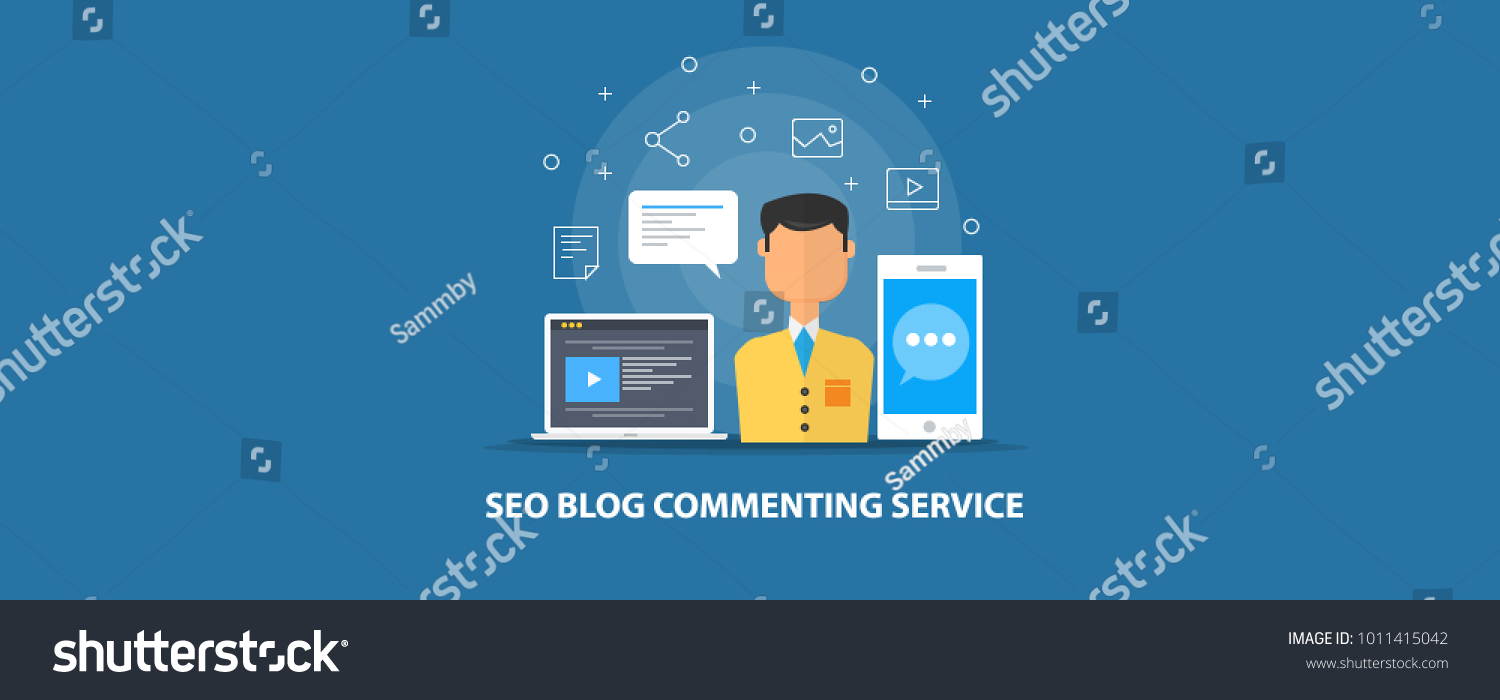 Seo Service Blog Commenting Seo Marketing Stock Vector