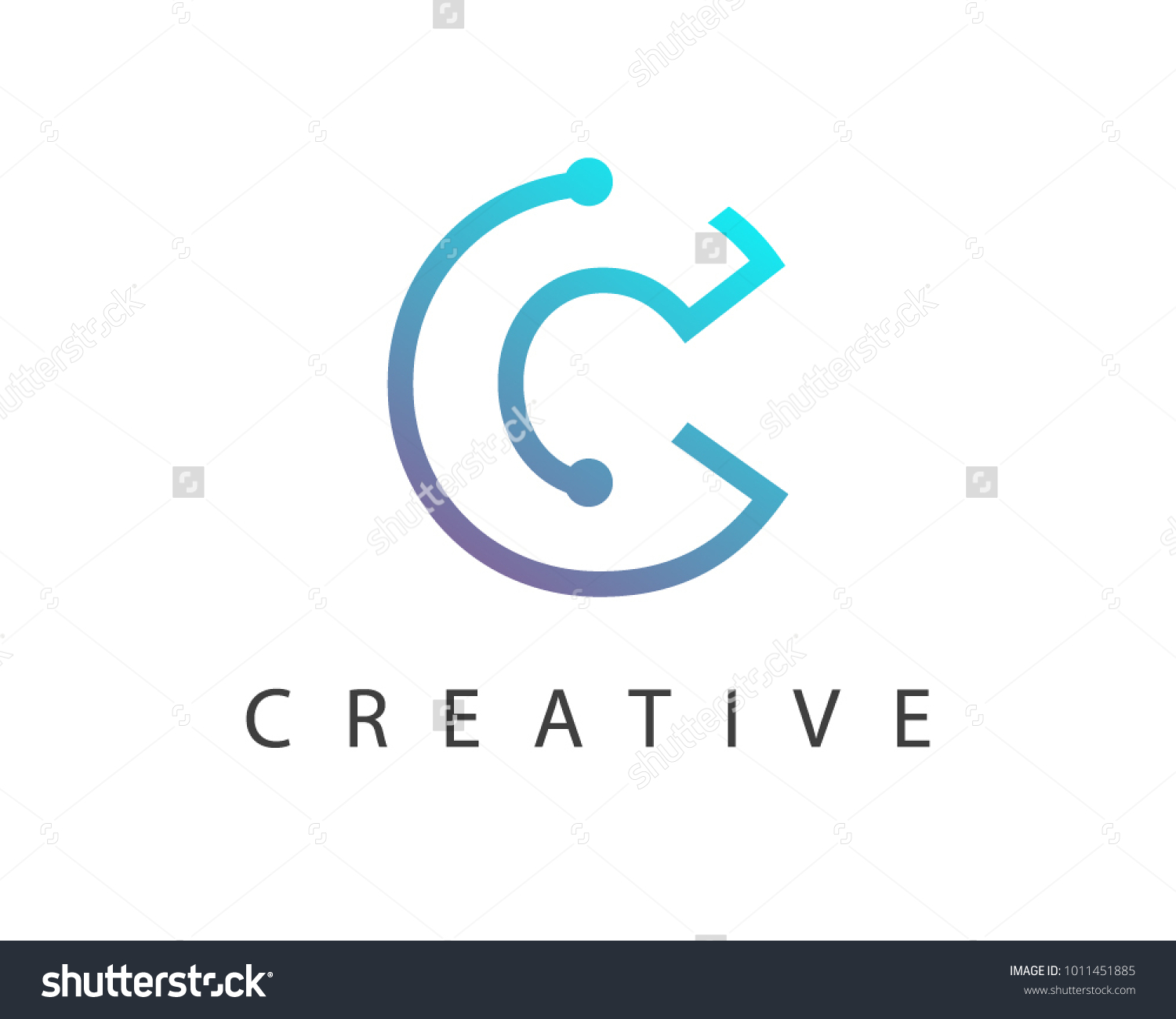 Initial letter c logo connected circle stock vector 1011451885 initial letter c logo connected circle symbol design template element biocorpaavc Images
