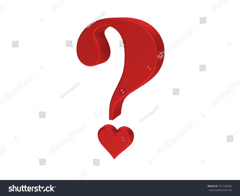 Rendering Red Heart Question Mark Stock Illustration 101149939 ...