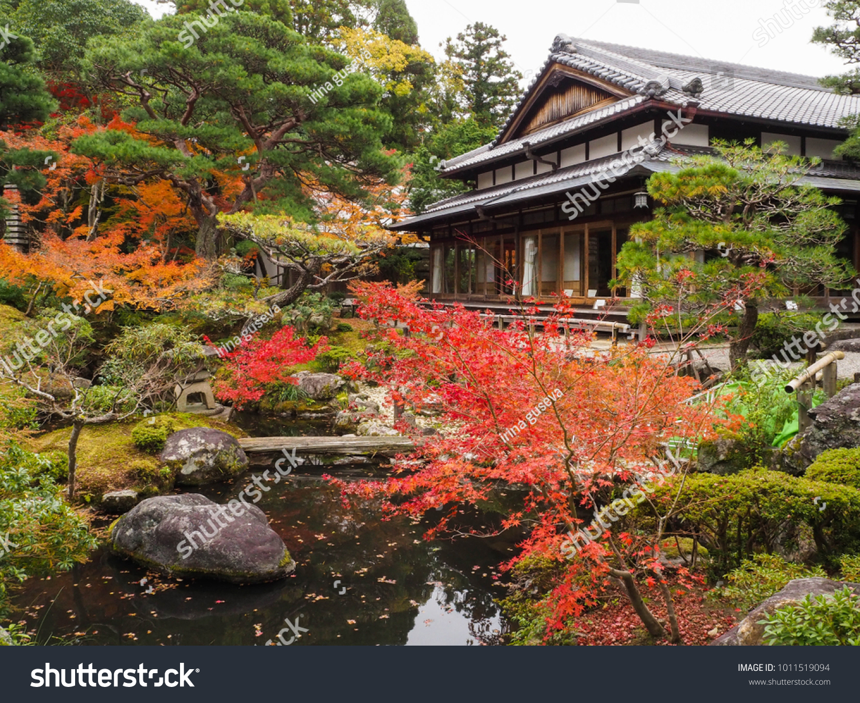 Japanes garden in Nara. Japan. Yoshikien garden | EZ Canvas