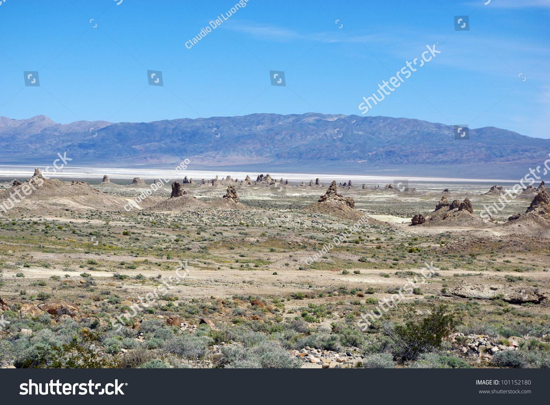 Trona Pinnacles, Salt Flats And Panamint Mountains