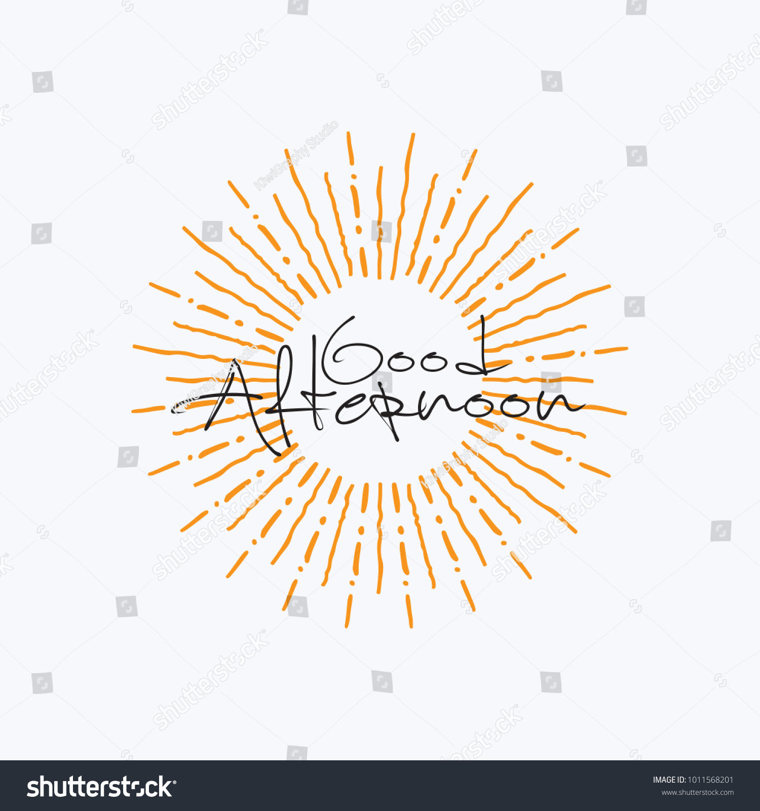 Good Afternoon Vector Hand Written Text Stock Vector Royalty Free