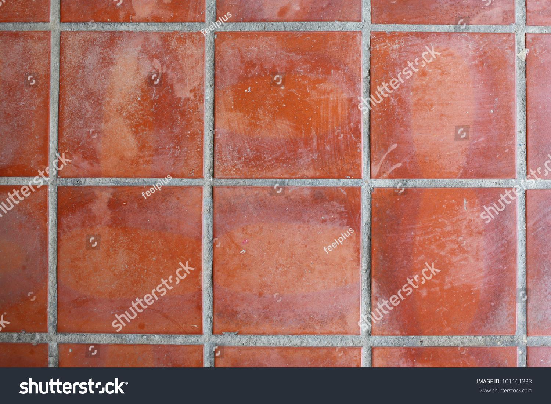 red floor tile stock photo 101161333 shutterstock. Black Bedroom Furniture Sets. Home Design Ideas