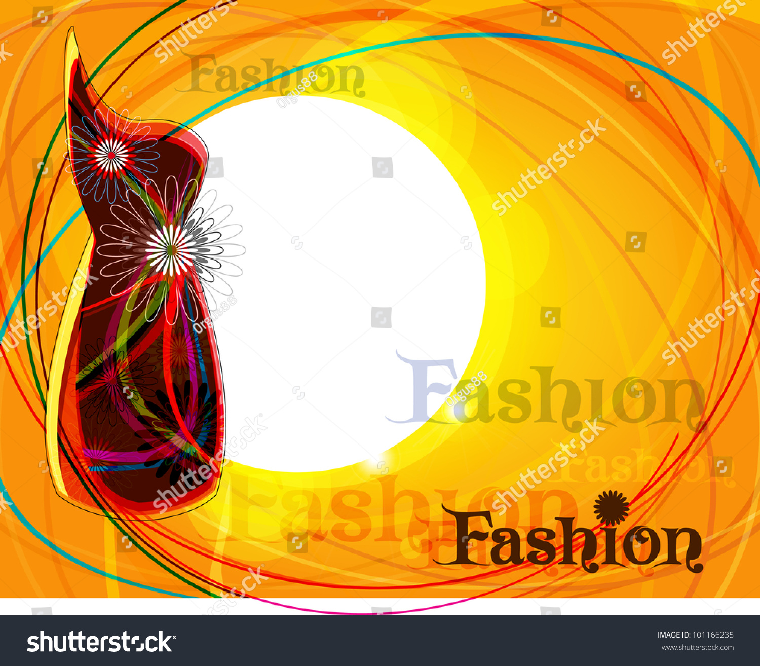 Fashion poster background