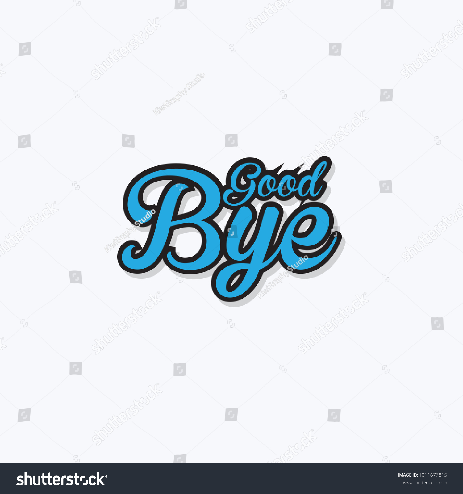 Good Bye Vector Hand Written Text Stock Vector Hd Royalty Free