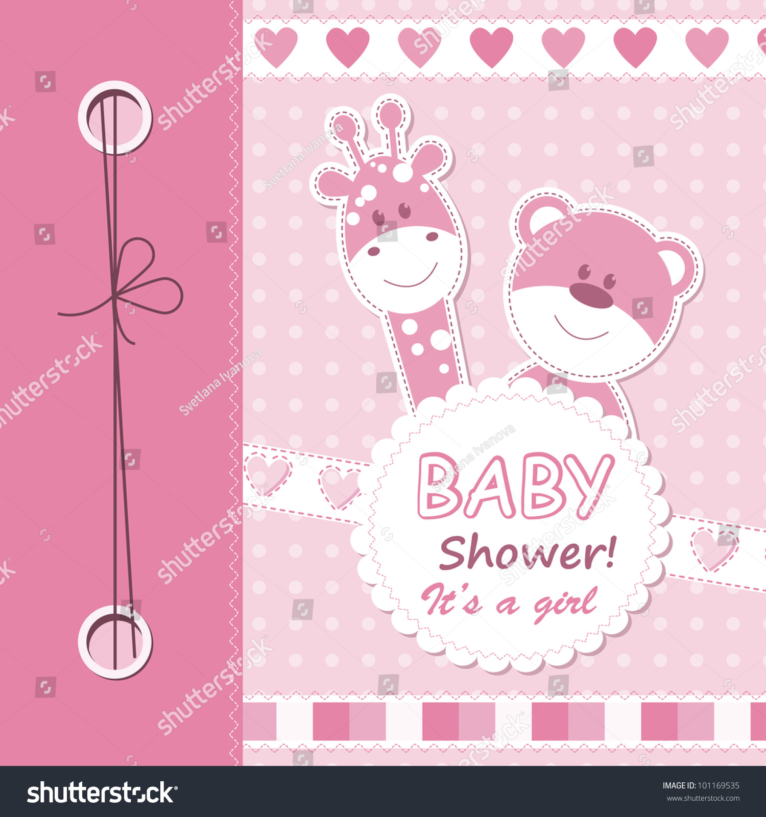 How to scrapbook for baby girl - Vector Baby Girl Scrapbook Card