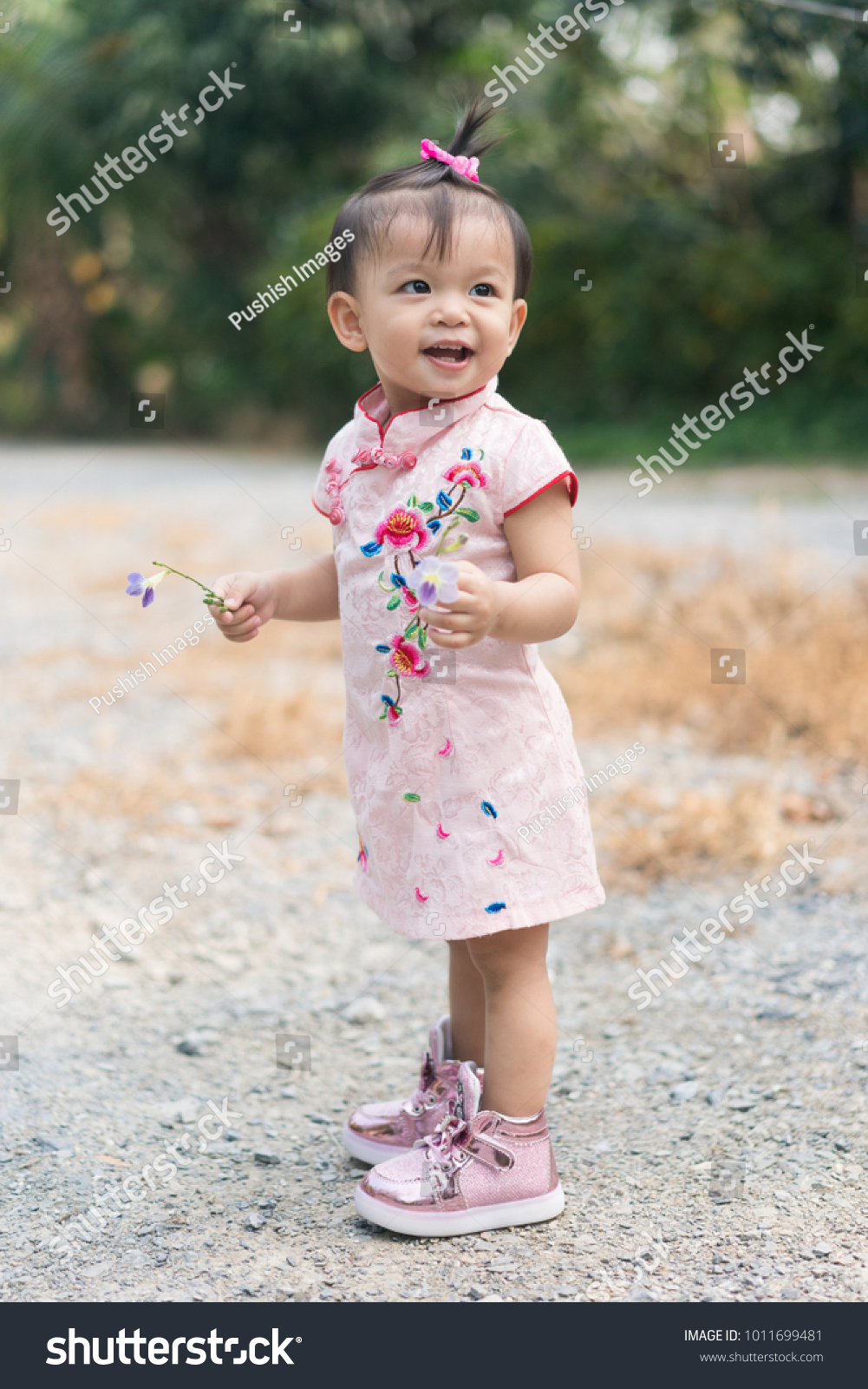 f1d583d0578 Cute Asian Baby Girl Chinese Dress Stock Photo (Edit Now) 1011699481 ...