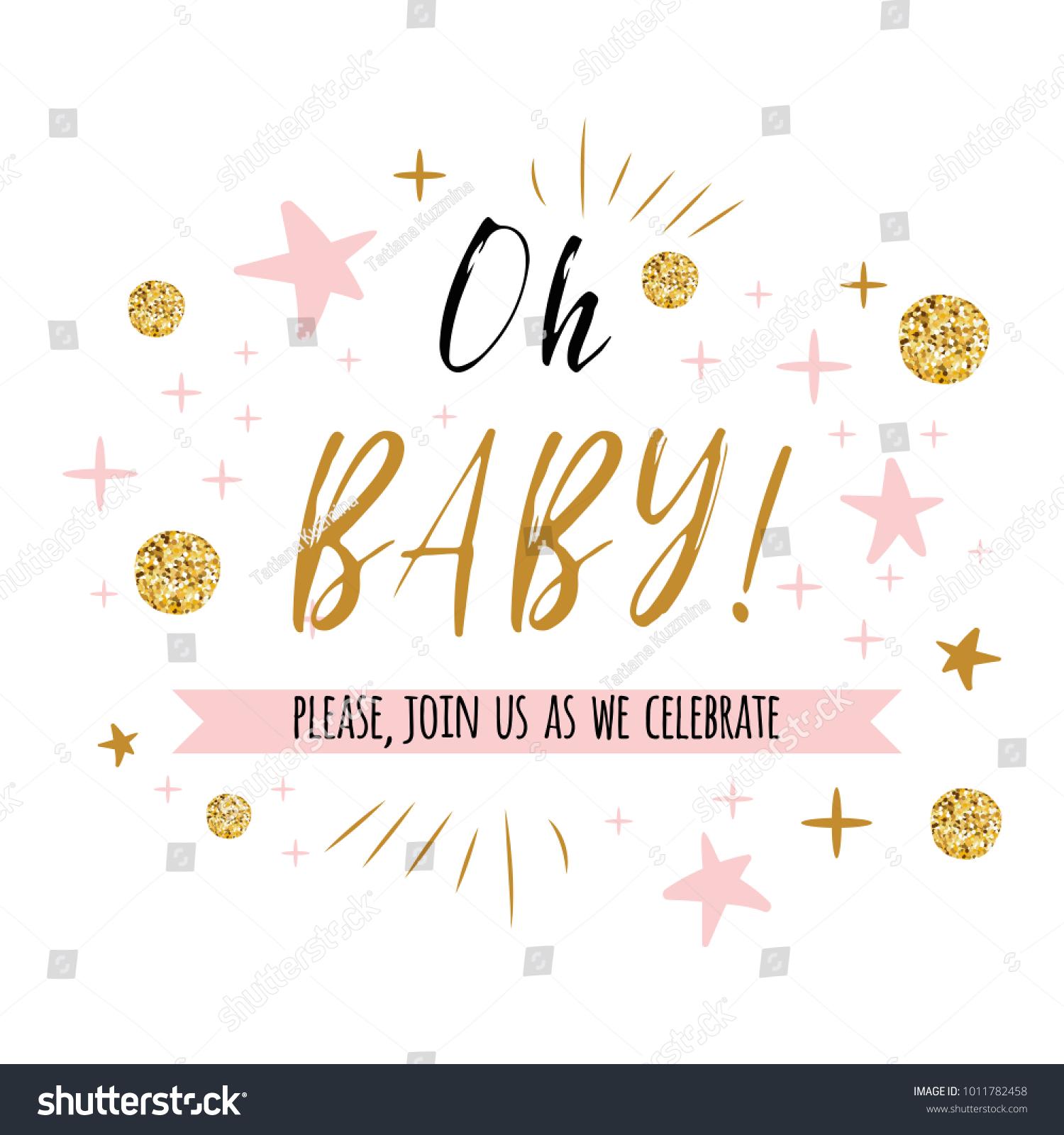 Ggentle oh baby text cute gold stock vector 1011782458 shutterstock stopboris Images