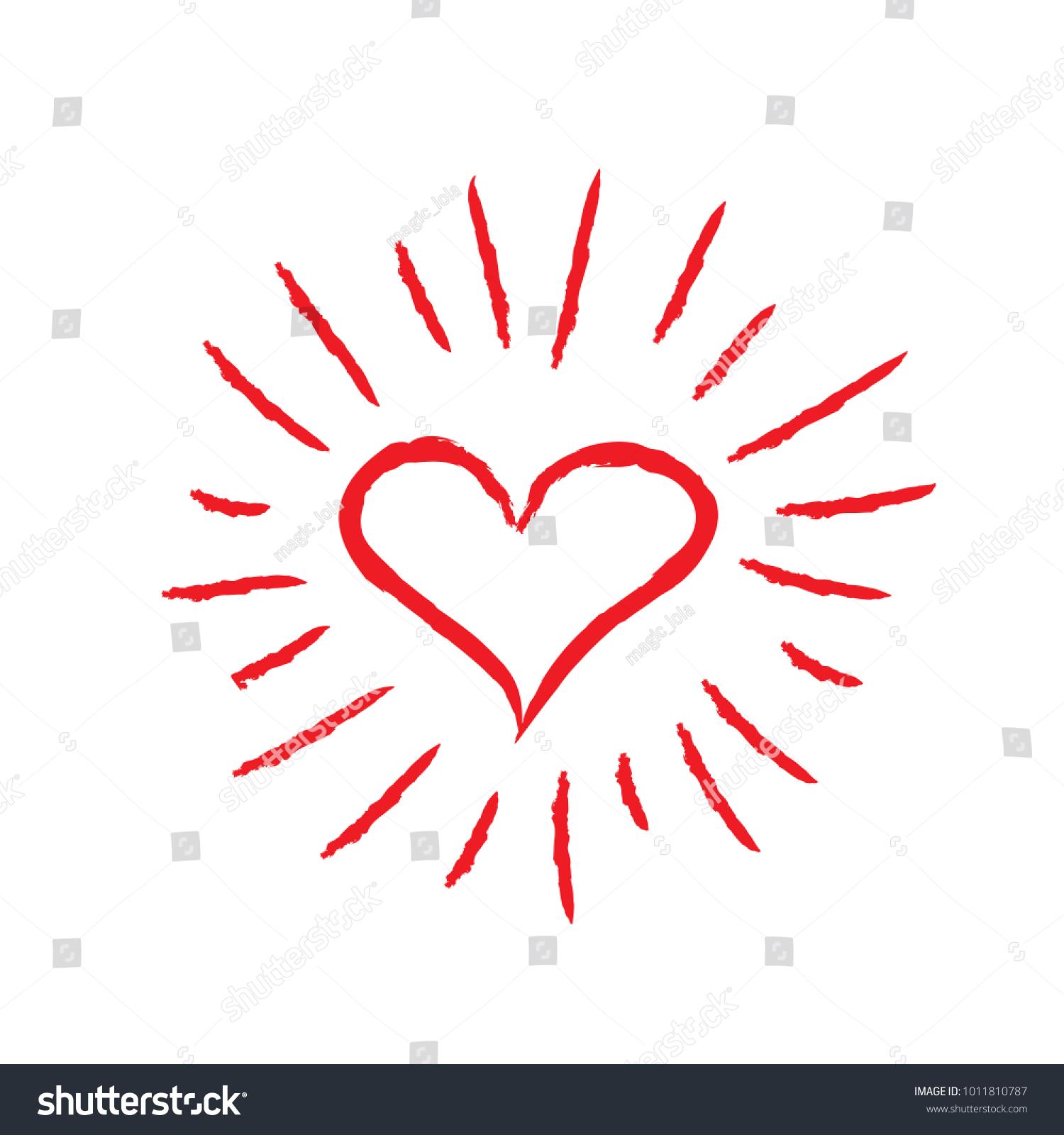 Heart symbol sunburst stock vector 1011810787 shutterstock heart symbol with sunburst biocorpaavc