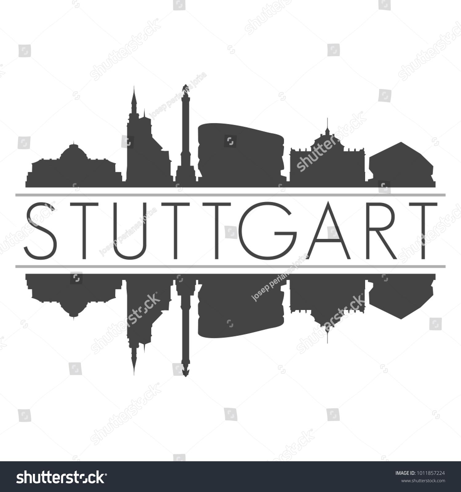 Stuttgart Germany Europe Skyline Vector Art Vector de ...