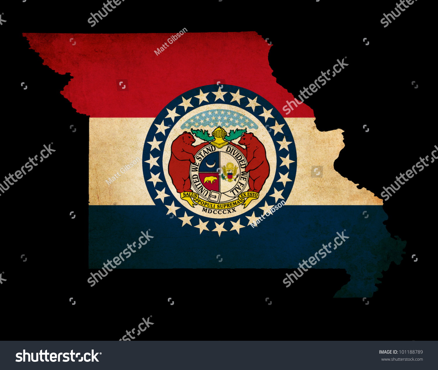 Usa American Missouri State Map Outline Stock Illustration - Missouri state map usa