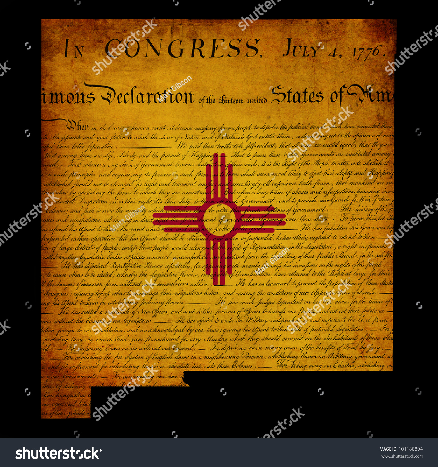 Usa american new mexico state map stock illustration 101188894 usa american new mexico state map outline with grunge effect flag insert and declaration of independence buycottarizona
