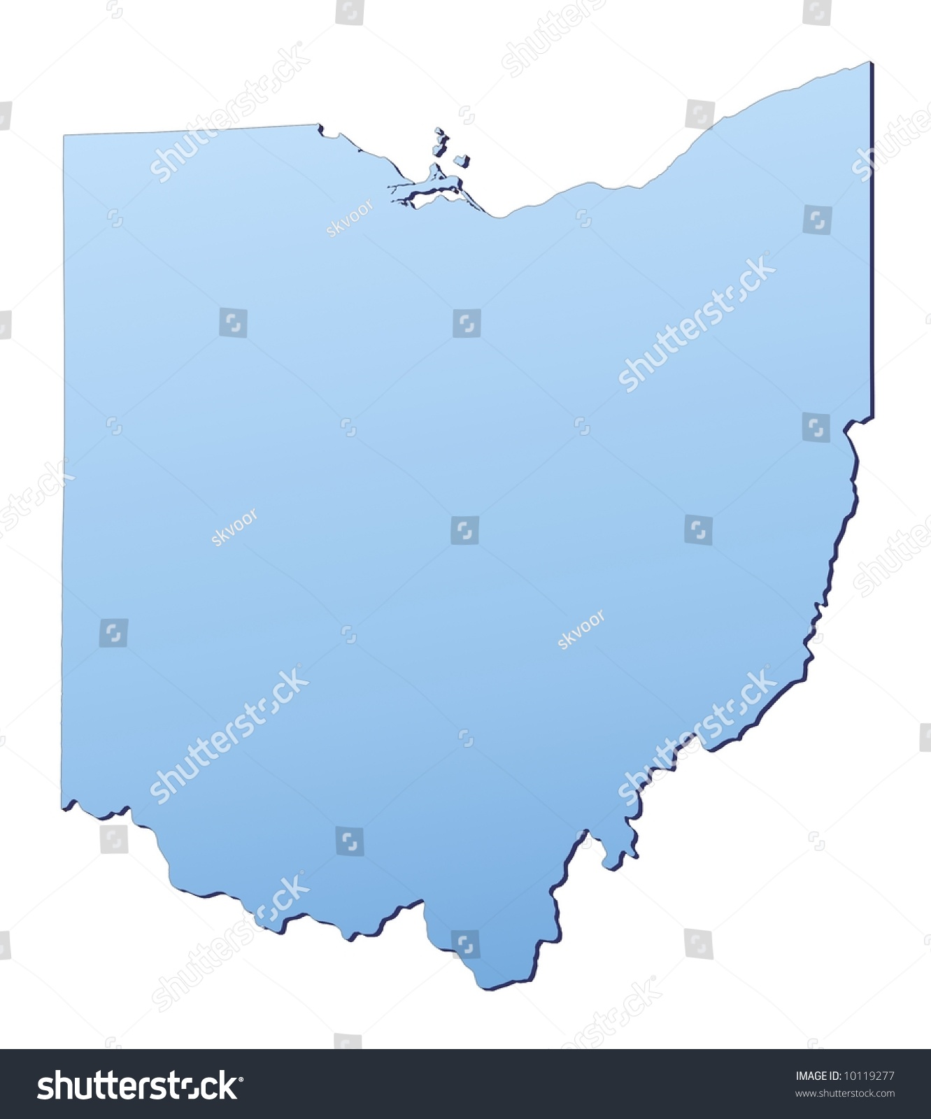 Ohio Digital Vector Map With Counties Major Cities Roads Rivers Usa Map Where Is Ohio